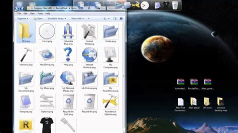 how to install icon themes windows 7 themes windows how to install animated 3d icons for rocketdock on pc