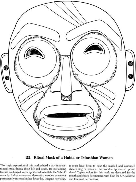 American Masks Coloring Book american masks coloring book dover publications