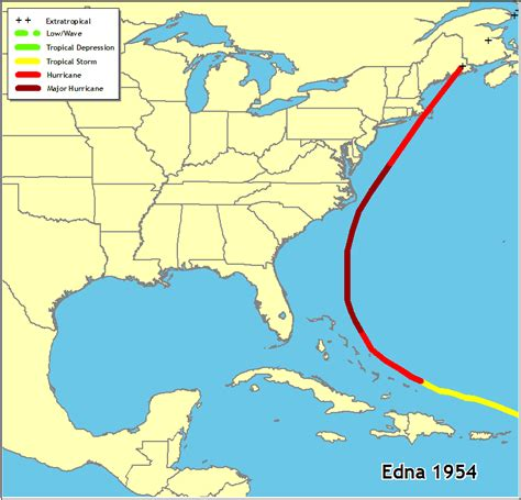 map of us east coast islands hurricanes in history