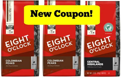 printable eight o clock coffee coupons new eight o clock coffee coupon expires 7 31 15