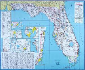 atlas map of florida 1960 official florida road map