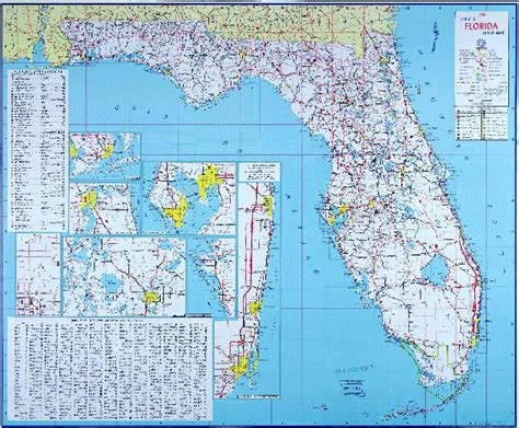 road map of florida 1960 official florida road map