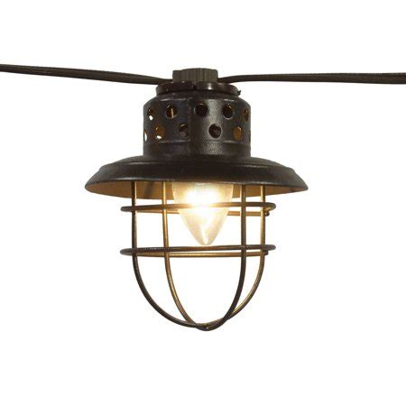 hd designs outdoors string lights better homes and gardens 10 count vintage cage lantern