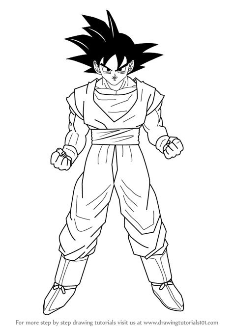 Z Drawing Images by How To Draw Goku From Z