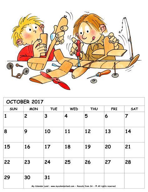 calendars with children october 2017 calendar my calendar land