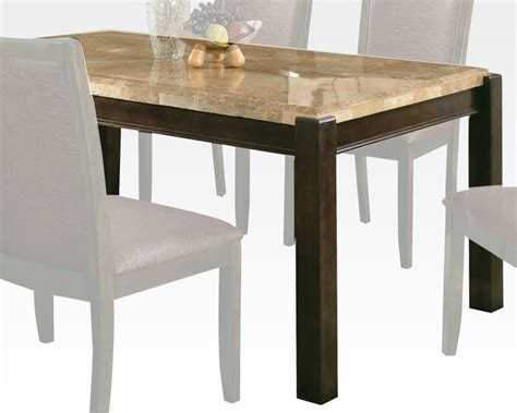 Brown Marble Dining Table Acme Dining Table W Aegean Brown Marble Top Charissa Ac70750