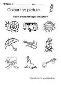 colors that start with v color the picture starting with alphabet v worksheet pre