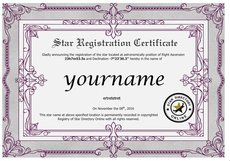 28 name a star certificate template doc 640828 name