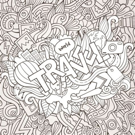 coloring pages for adults travel 46 best images about doodles coloring pages on pinterest