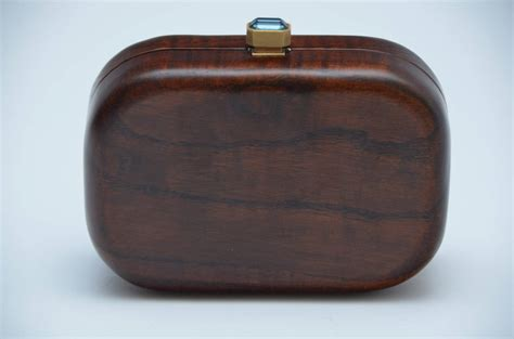 Devi Kroell Wooden Box Clutch by Devi Kroell Wood Minaudi 232 Re Clutch Handbag At 1stdibs