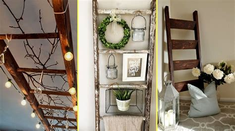 home decor ladder diy farmhouse style rustic ladder decor ideas 2017 home