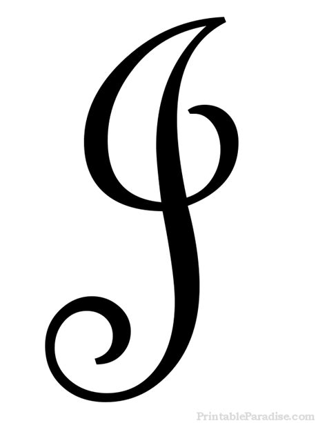 free printable large cursive letters printable letter j in cursive writing ideas pinterest