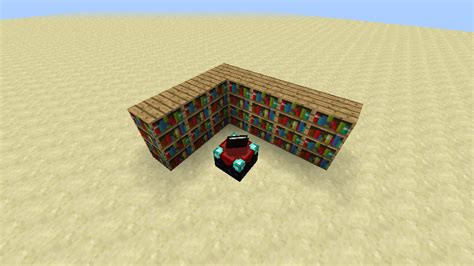 exciting minecraft enchantment table bookshelves 62 for
