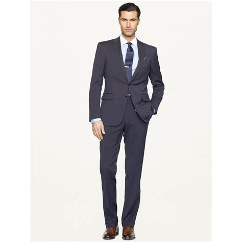 Anthony Navy Sweater Rajut Gk lyst ralph black label anthony solid suit in blue for