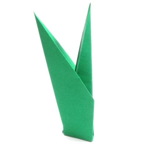 Origami Tulip Stem - how to make a simple origami stem page 6
