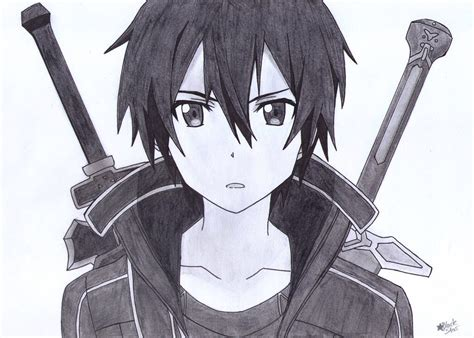 design art online kirito drawing sword art online pinterest kirito