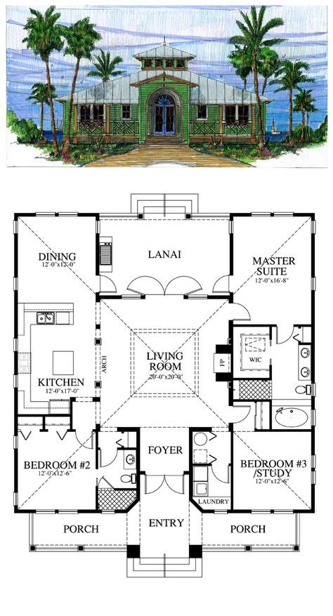 florida home designs floor plans narrow lot house plan 70816
