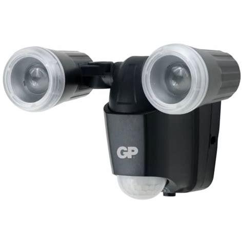 gp dual outdoor battery powered flood light