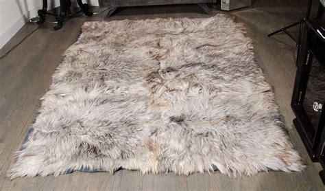 hair rug hair silver goat skin rug at 1stdibs