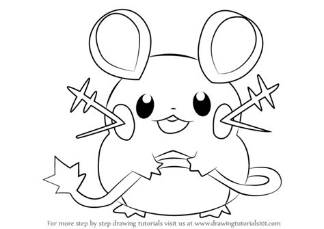 pokemon coloring page dedenne learn how to draw dedenne from pokemon pokemon step by