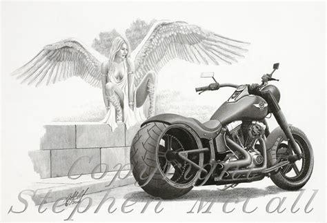 Motorrad Chopper Zeichnung by Harley Davidson Clipart Pencil Sketch Pencil And In