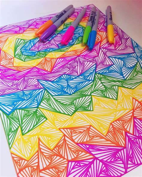 easy colorful drawings 1000 ideas about sharpie designs on