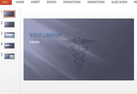 Caduceus Symbol Medical Powerpoint Template Medicine Powerpoint Templates Free