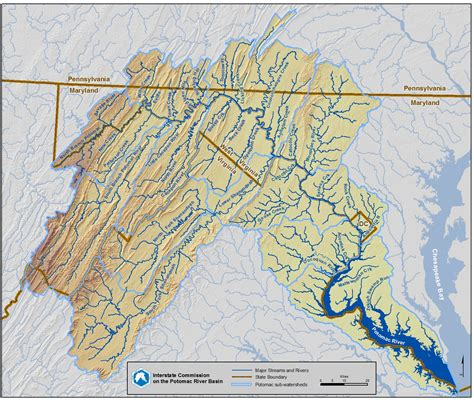 washington dc rivers map maps potomac river basin water source