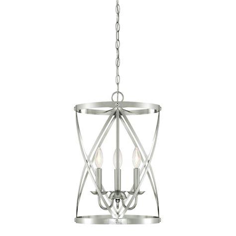 brushed nickel chandeliers westinghouse isadora 3 light brushed nickel chandelier