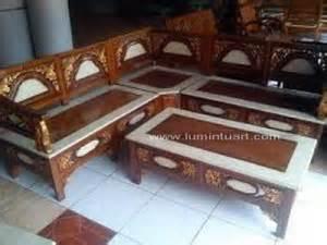 Kursi Tamu Sudut Minimalis Furniture Kursi Dipan Bufet Lemari jual kursi sudut tamu minimalis bulan ukir kayu jati