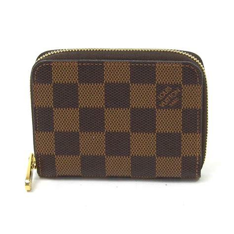 auth louis vuitton damier ebene zippy coin purse coin brown n63070 y12905 ebay