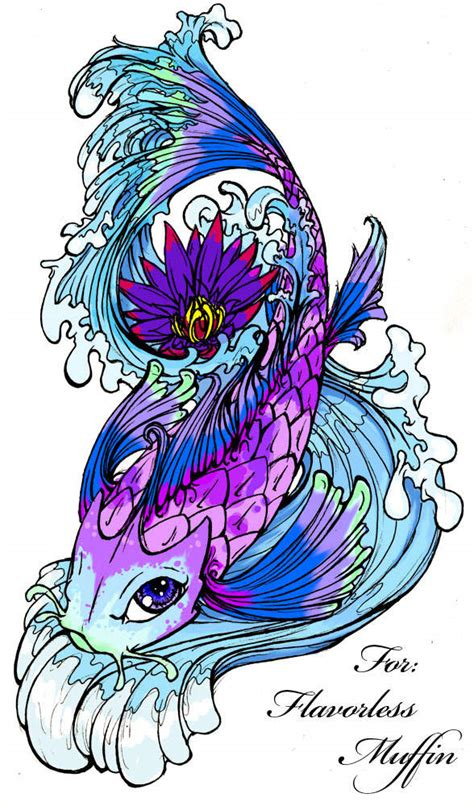 fish tattoo designs art koi fish rib cage tattoos