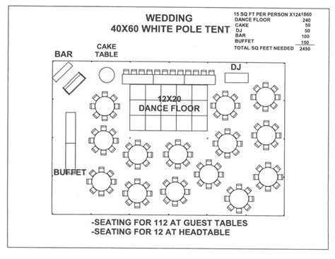 Wedding Reception Table Layout Template Shatterlion Info Tent Layout Template