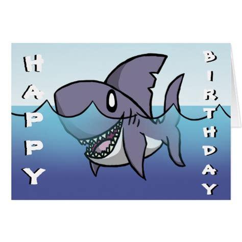 Shark Birthday Card Shark Birthday Card Zazzle