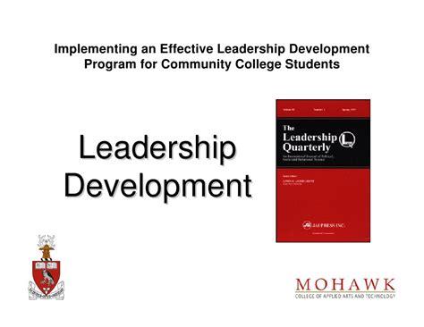 implementing  effective leadership development program