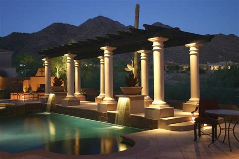 Patio Column Lights Patio Cover Lighting Ideas Landscaping Network