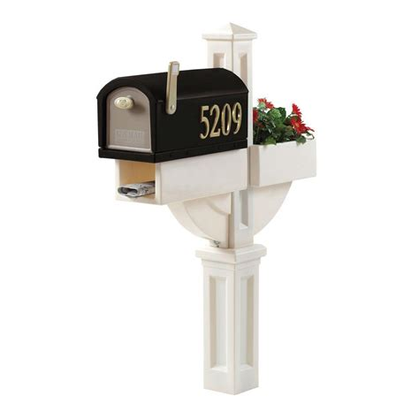 step2 mailmaster hudson mailbox with planter 520900 the