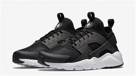 black and white patterned huaraches nike air huarache ultra black white the sole supplier