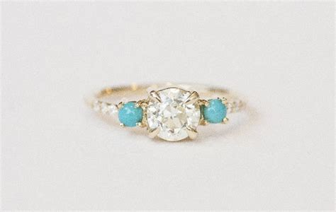 turquoise opal engagement rings 25 best ideas about cluster rings on