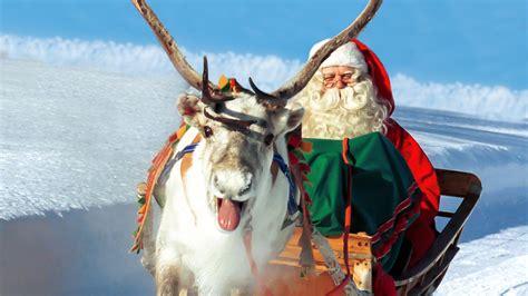 imagenes de santa claus con los renos los renos de pap 225 noel santa claus en laponia finlandia