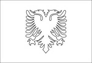Albanian Flag Outline by 187 Albania Black White Line Coloring Book Colouring Supercalifragilisticexpialidocious