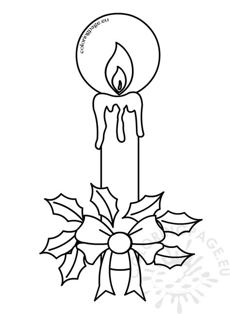 holly tree coloring page printable free coloring pages for christmas candles