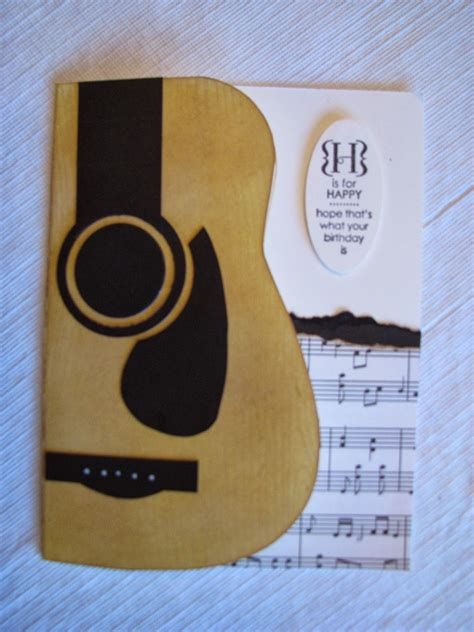 Guitar Shaped Card Template