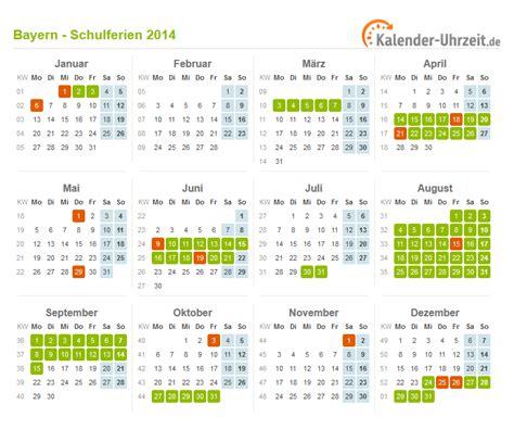 Kalender 2014 Feiertage Schulferien Bayern 2014 Ferienkalender Zum Ausdrucken