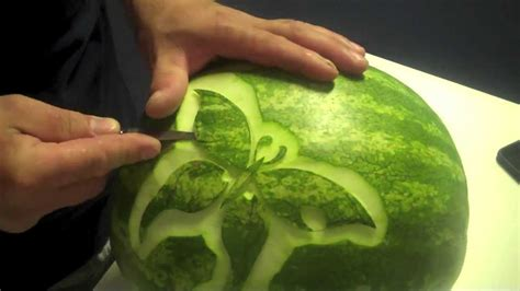 Decorative Watermelon Cutting by Butterfly Kisses Carved Watermelon
