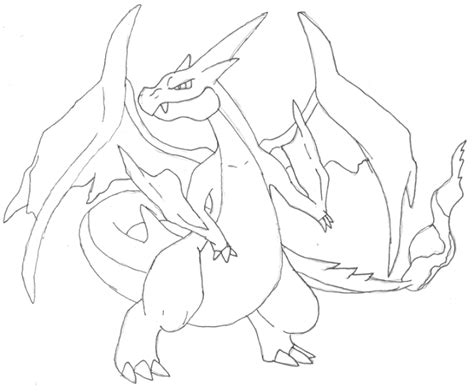 pokemon coloring pages mega charizard charzarid x and y free colouring pages