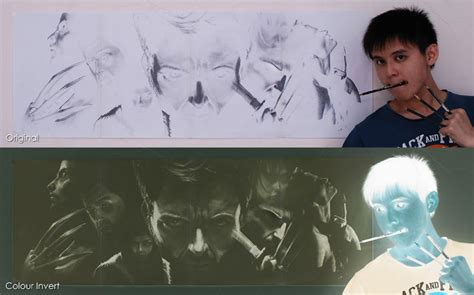 Meme Lai - artist s inverted sketches reveal wolverine drawings