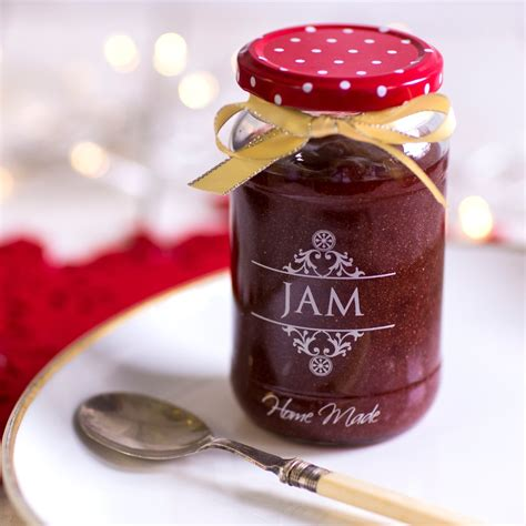 Jamz Jamz glitter strawberry jam with chagne baking mad