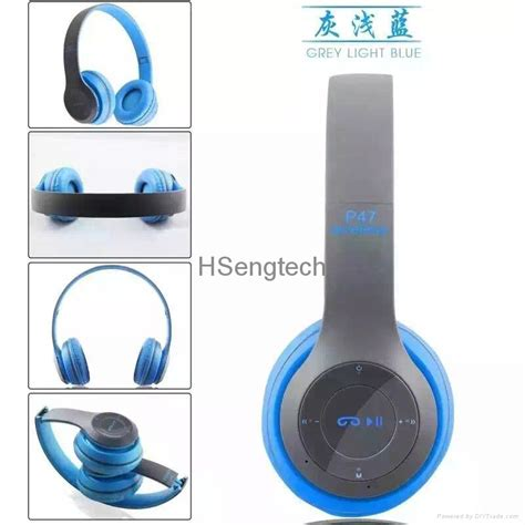 Headset Dj Bluetooth P47 cheap wholesale p47 rechargeable wireless headphones colorful bluetooth headset sport hook