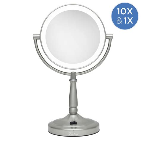 sided lighted mirror cordless dual sided led lighted vanity mirror 1x 10x